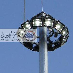 برج نور مجهز به پروژکتور led مدل الماس