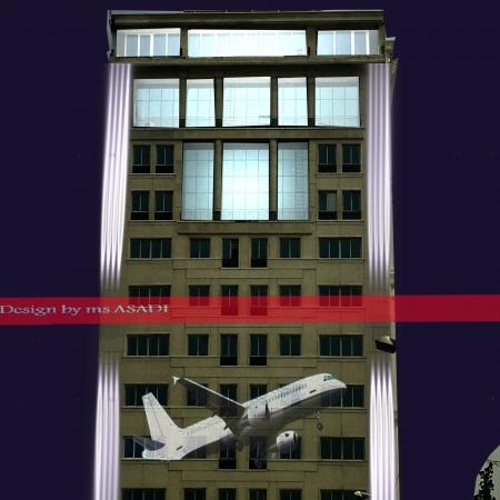 طراحی نورپردازی نمای ساختمان مرکزی ماهان