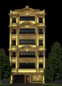 طراحی نورپردازی نمای شخصی شرکت پرتوتراشه