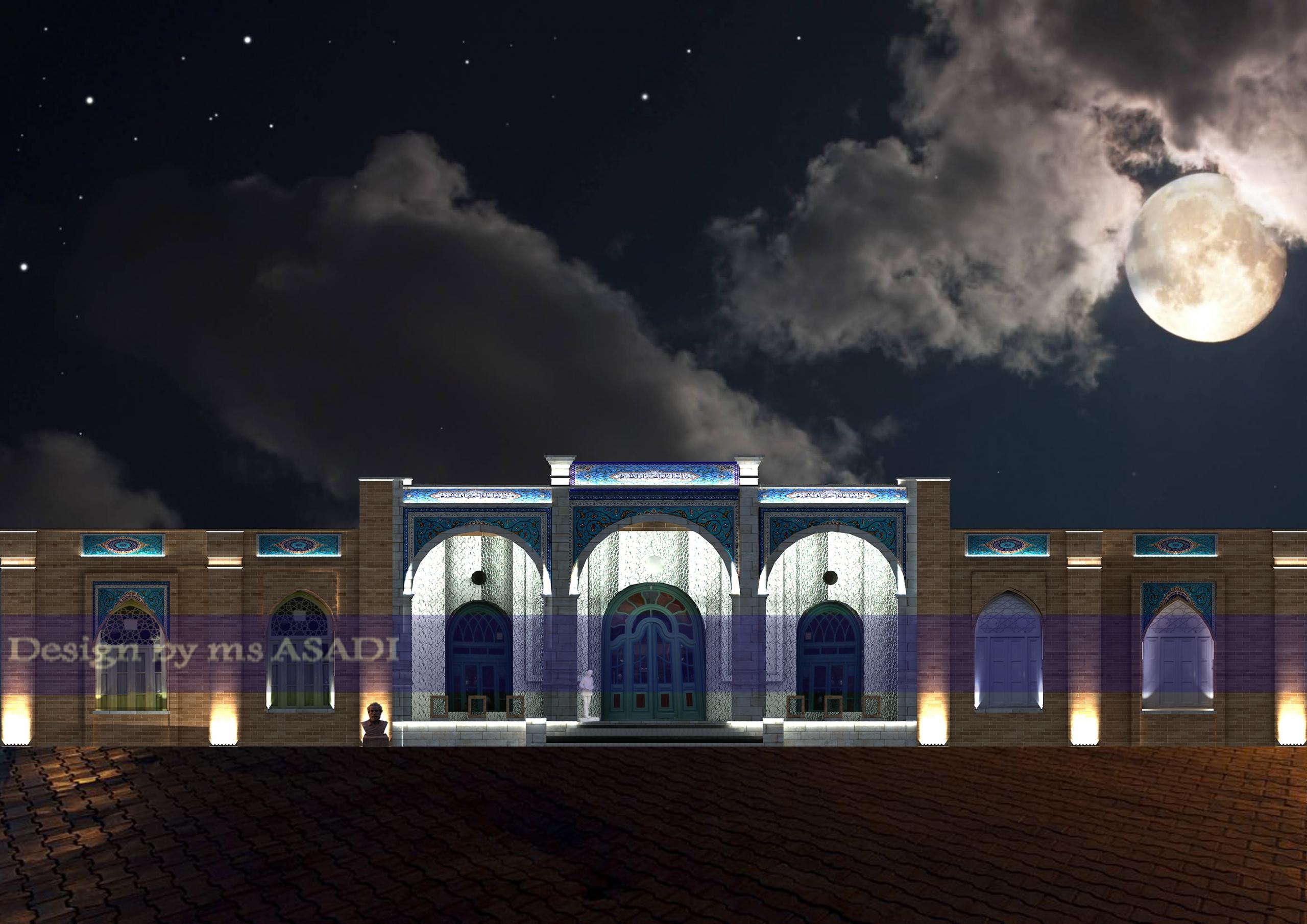 طرح نورپردازی ساختمان حوزه هنری