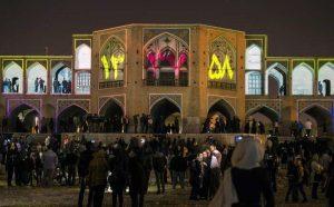 ویدیو مپینگ بر روی یکی از آثار تاریخی اصفهان
