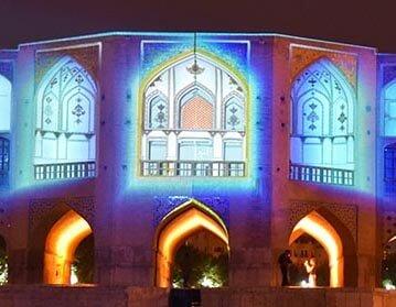 ویدیو مپینگ روی پل خواجو اصفهان توسط شرکت پایارسا الکترونیک