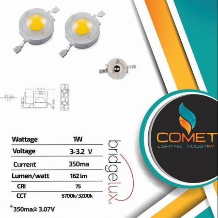 Led power 1w Bridgelux 2630 dual chip گروه روشنایی کیهان
