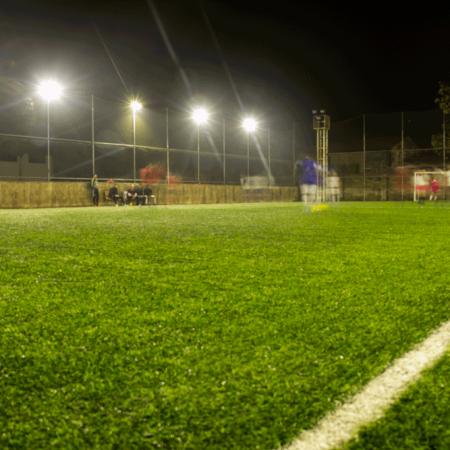 نورپردازی زمین فوتبال بهین تاب