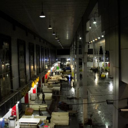 پروژه چراغ کارگاهی(آویز صنعتی سوله ای) بهین تاب