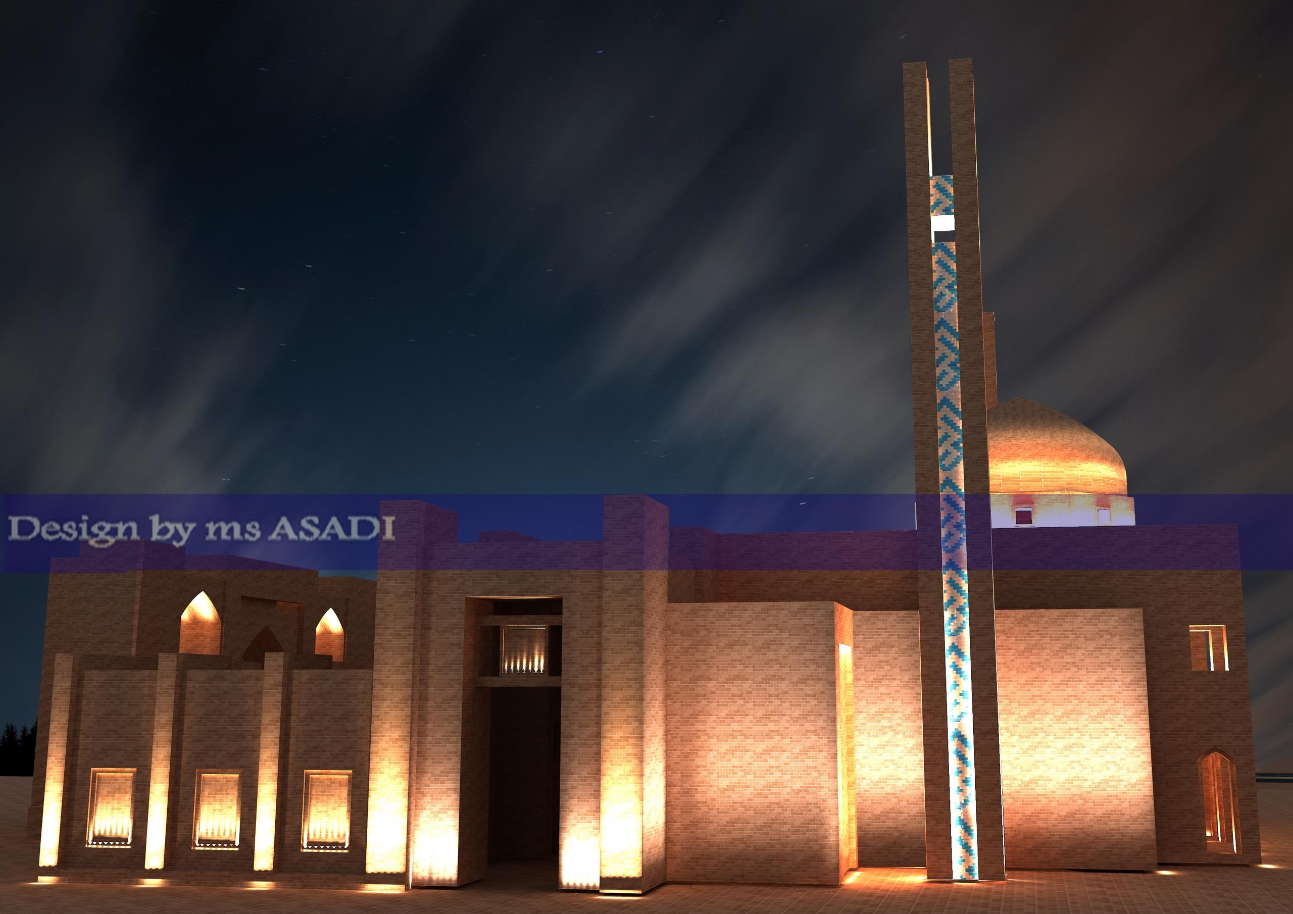 طراحی نورپردازی نمای مسجد پیامبر اعظم (ص)
