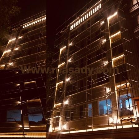 نورپردازی حرفه ای نمای ساختمان بهنژاد