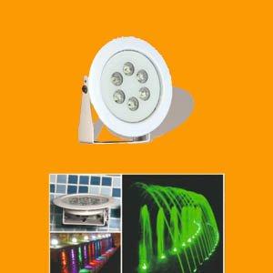 پروژکتور پایه دار ضد آب 6 وات تک رنگ