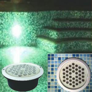 چراغ استخری توکار 36 وات مولتی کالر rgb