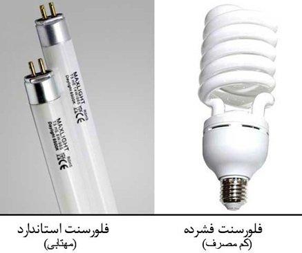 لامپ فلورسنت fluorescent lamp